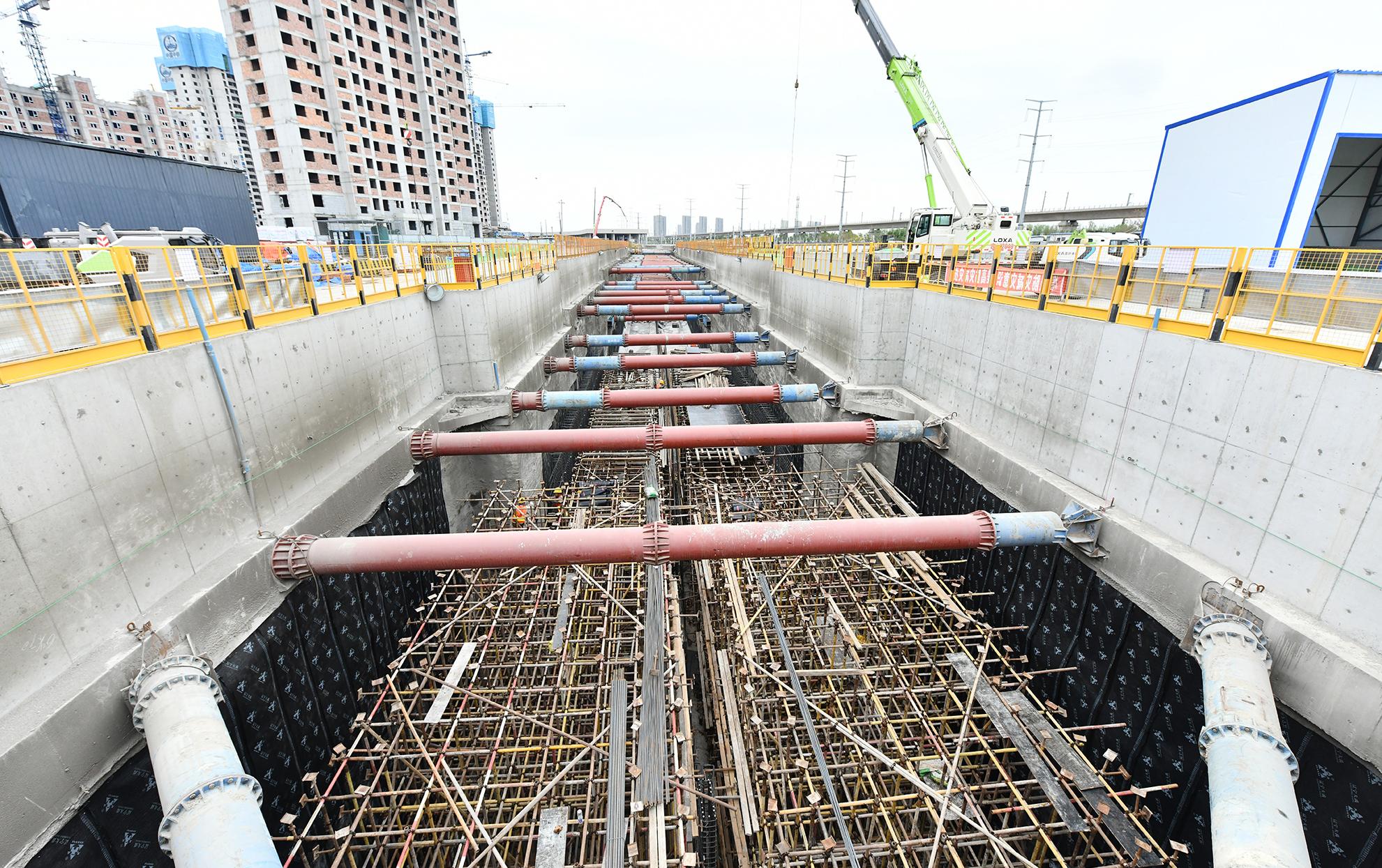 地铁明挖车站